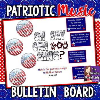 Patriotic Songs Music Bulletin Board-Oh Say Can You Sing