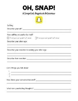 Oh, Snap! A Snapchat Inspired Dialogue Activity