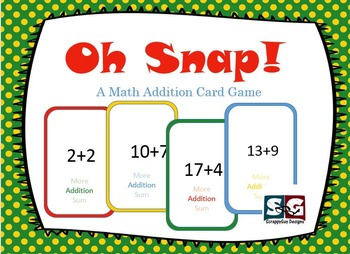 Oh Snap! Addition Card Game