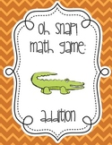 Oh Snap Addition Math Fact Card Game - 0 - 9 - Great Center Activity!