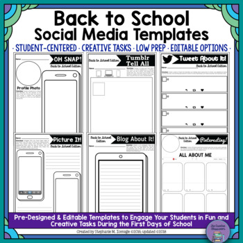 Oh Snap! Editable Social Media Template: Back to School Edition