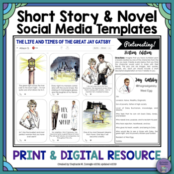 Oh Snap! Editable Social Media Template for Any Short Stor