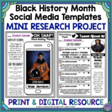 Oh Snap! Black History Month Editable Social Media Templates