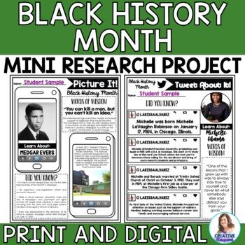 Black History Month Editable Social Media Templates