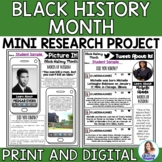 Black History Month Social Media Templates: Mini Research Project
