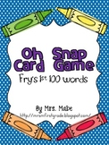 Oh Snap - High Frequency Word Game - Fry's 1st 100 Words