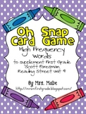 Oh Snap - High Frequency Word Game for Reading Street Unit 4