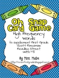 Oh Snap - High Frequency Word Game for Reading Street Units 1-5