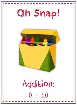 Oh Snap! Math Folder Card Game - Adding Within 10