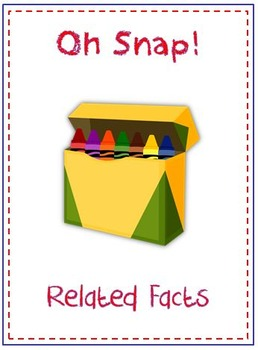 Oh Snap! Math Folder Card Game - Related Facts - Adding and Subtracting