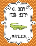 Oh Snap Multiplication Math Fact Card Game - 0 - 9 - Center & Review Activity!