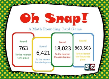 Oh Snap! Rounding card game