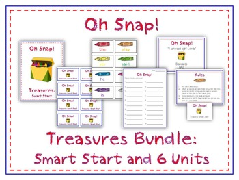 Oh Snap! Sight Word Card First Grade Game - Treasures Reading Program - 7 Units