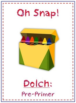 Oh Snap! First Grade Sight Word Folder Game - Dolch Word - Pre-Primer