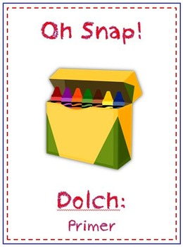 Oh Snap! Sight Word Folder Game - Dolch Words - Primer