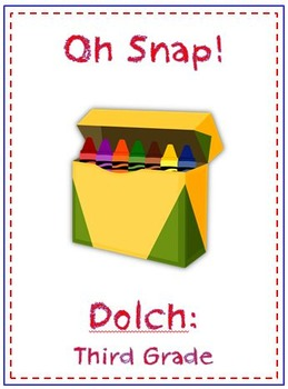 Oh Snap! Sight Word Folder Game - Dolch Word - Third Grade
