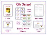 Oh Snap! First Grade Sight Word Game - Treasures Reading Program - Start Smart
