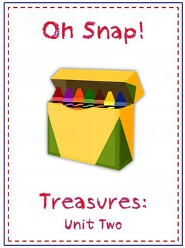 Oh Snap! First Grade Sight Word Game - Treasures Reading Program - Unit 2