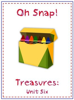 Oh Snap! First Grade Sight Word Game - Treasures Reading Program - Unit 6