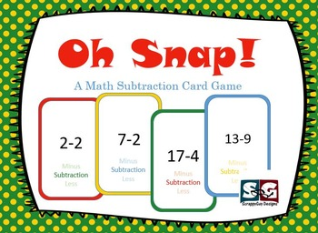 Oh Snap! Subtraction Card Game