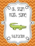 Oh Snap Subtraction Math Fact Card Game - 0 - 12 - Center & Review Activity!
