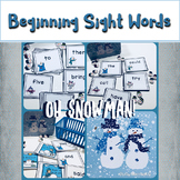 Oh Snowman Sight Words Game