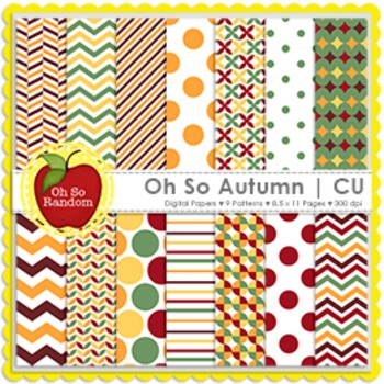 Oh So Autumn Digital Papers {Papers for Commercial Use}