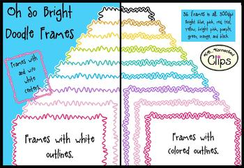 Oh So Bright! Doodle Frames
