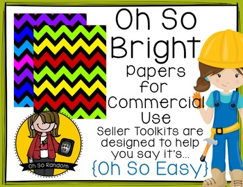 Oh So Bright Chevron {Papers for Commercial Use}