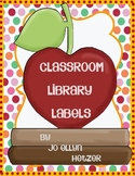 (Oh So Cute}  CLASSROOM LIBRARY BOOK LABELS