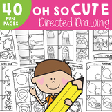 Oh So Cute Directed Drawings {Fun Drawing and Art Projects}
