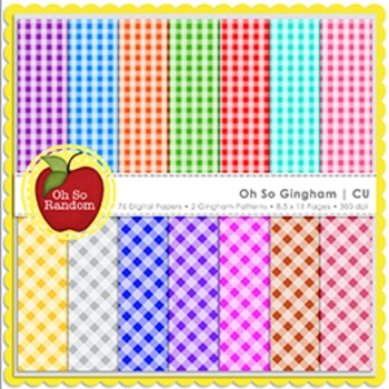 Oh So Gingham {Papers for Commercial Use}
