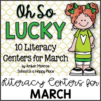 Oh So Lucky {10 Literacy Centers for March}