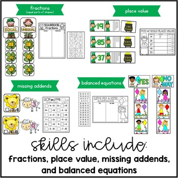 Oh So Lucky {10 Math Centers for March}