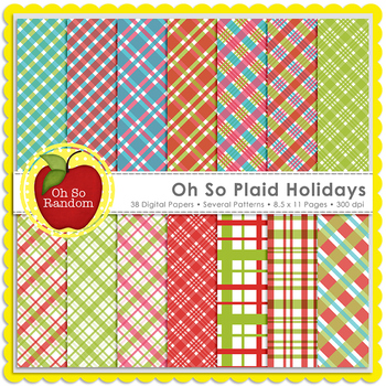 Oh So Plaid Holidays {Papers for Commercial Use}