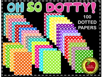 Oh So Polka Dottie {Papers for Commercial Use}