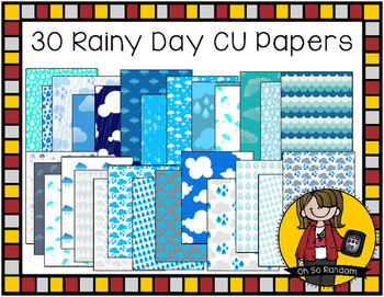 Oh So Rainy {Papers for Commercial Use}