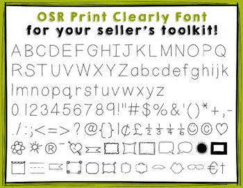Oh So Random Font | Print Clearly