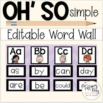Oh So Simple Editable Word Wall