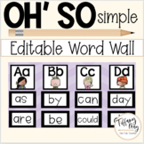 Oh So Simple Editable Word Wall