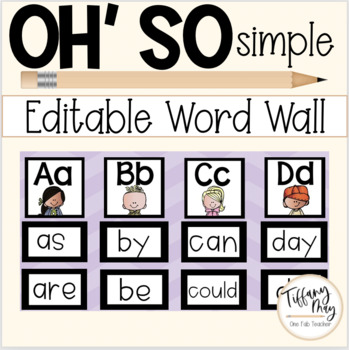 Oh So SImple Word Wall