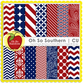 Oh So Southern {Papers for Commercial Use}