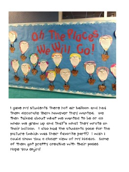 Oh The Places We Will Go Bulletin Board