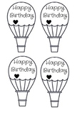 Oh The Places You'll Go! Birthday Hot Air Balloons