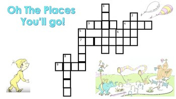 Oh The Places You'll Go Crossword