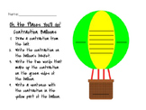 Oh, The Places You'll Go! Hot Air Balloon Contractions Activity