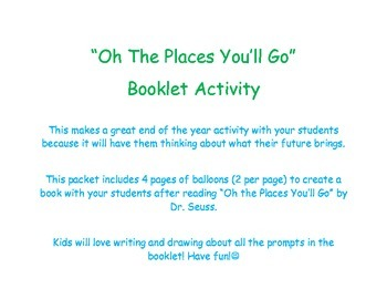 Oh The Places You'll Go! Activity