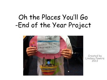 Oh The Places You'll Go -An End of the Year Project for Kindergarten