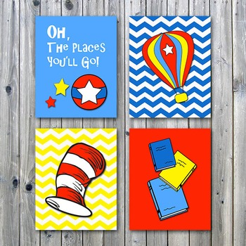 Classroom Art Posters - Oh, The Places You'll Go - Printable Wall Art