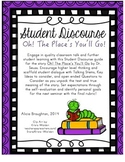 Oh! The Places You'll Go: Student Discourse Guide